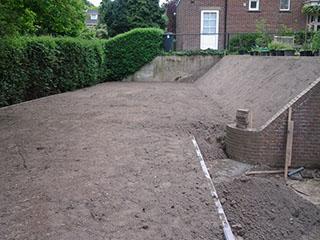 Graafwerkzaamheden tuin