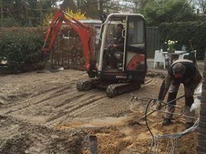 Tom van den Heuvel te Venlo - Fundering Aanbouw